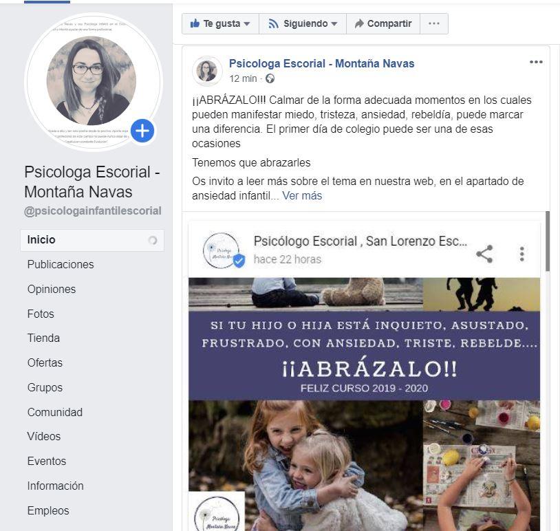 Psicologo infantil El Escorial